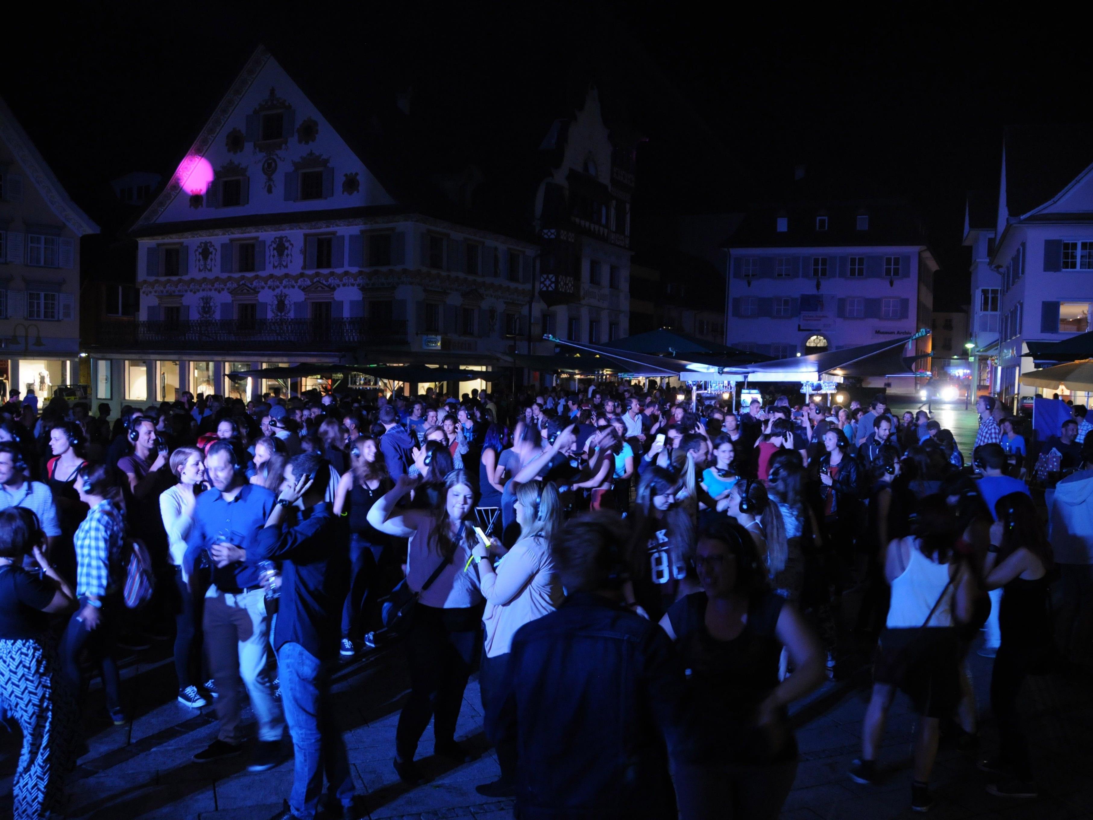 Silent Disco am Dornbirner Marktplatz.