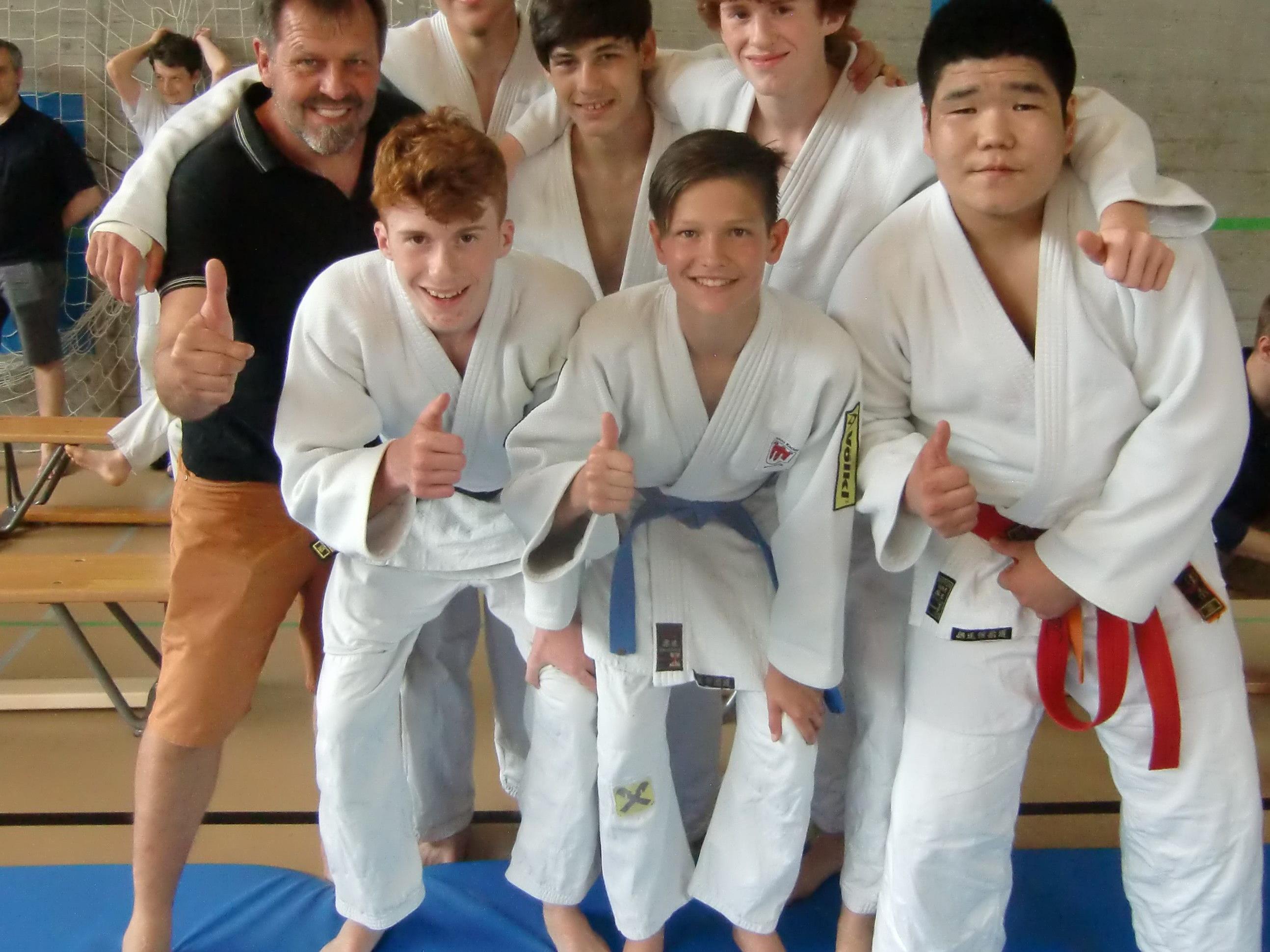 Die Dornbirner Judokas freuten sich über den hervorragenden zweiten Platz bei den U15-Meisterschaften der Ostschweiz.
