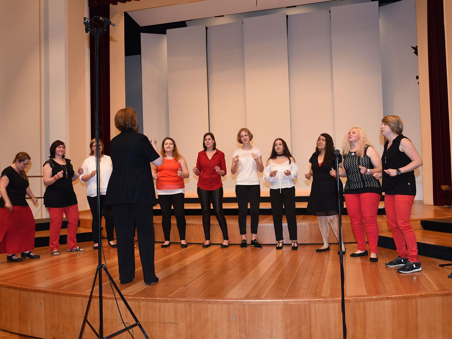 Der Jugend-/Frauenchor Zemmagwürflat aus Feldkirch