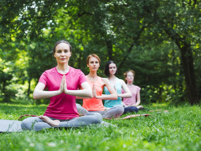 Diesen Sommer kann Yoga im Prater praktiziert werden