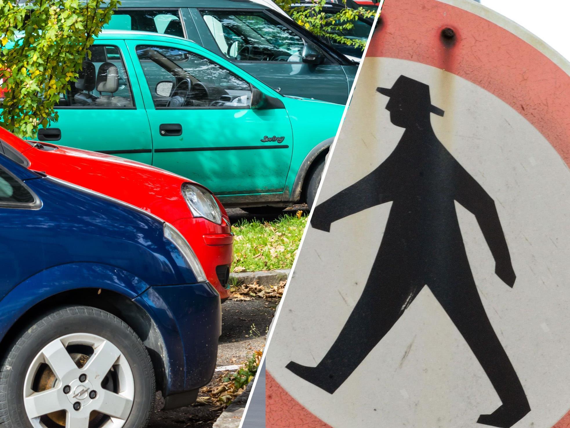 Fußgänger vs. Autofahrerin