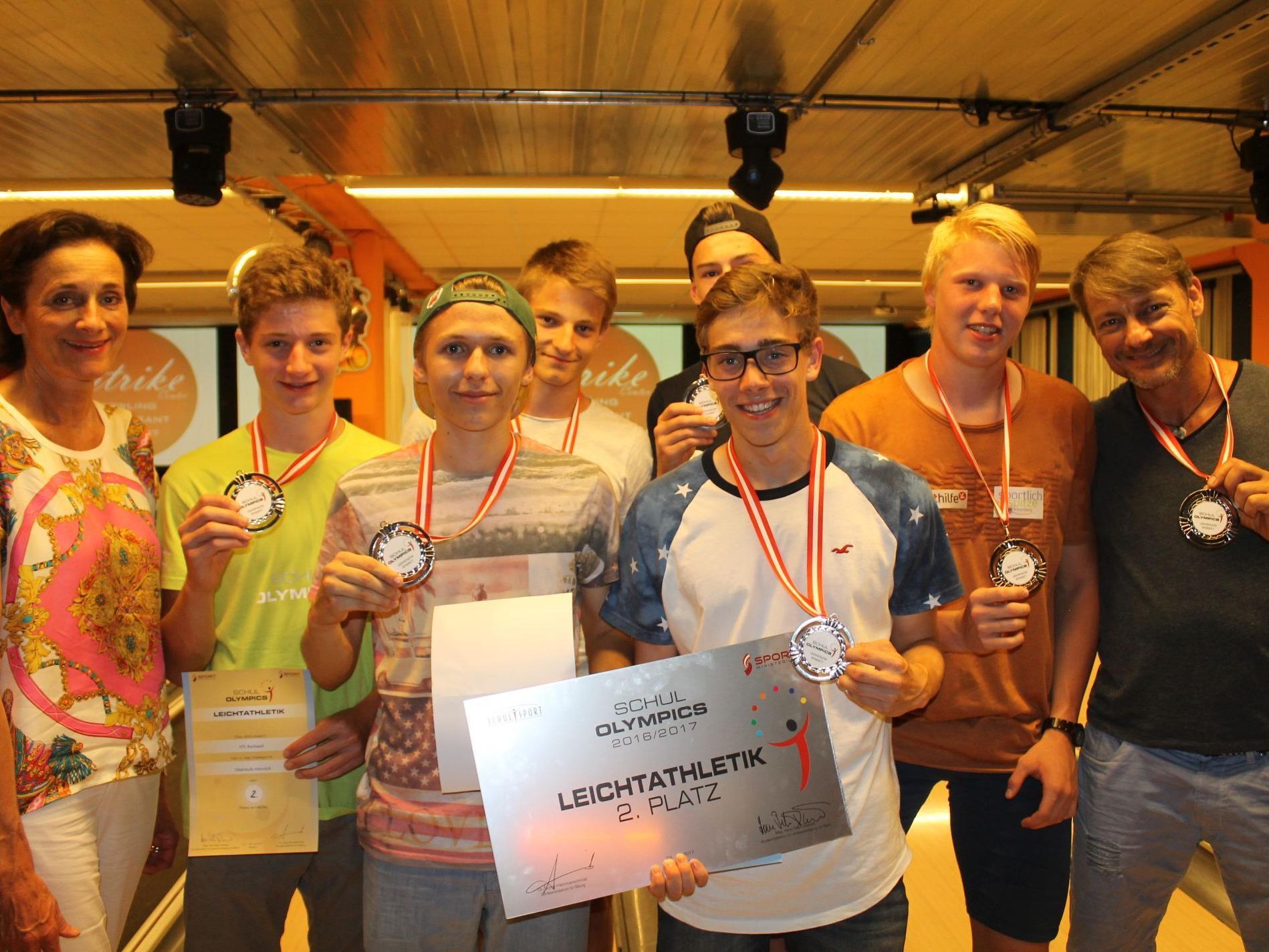 HTL Rankweil wurde Zweiter der Schul Olympics in der Leichtathletik