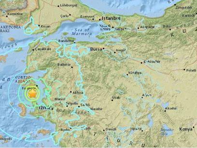 Ein Erdbeben der Stärke 6 hat am Montag Nachmittag die türkische Ägäisküste erschüttert.