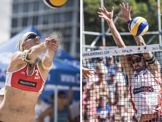 Stefanie Schwaiger und Clemens Doppler sind Österreichs Aushängeschilder im Beach-Volleyball.
