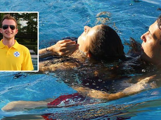 Der Wasserretter Johannes Purin rettete den 20-jährigen Ertrinkenden im Strandbad Bregenz.