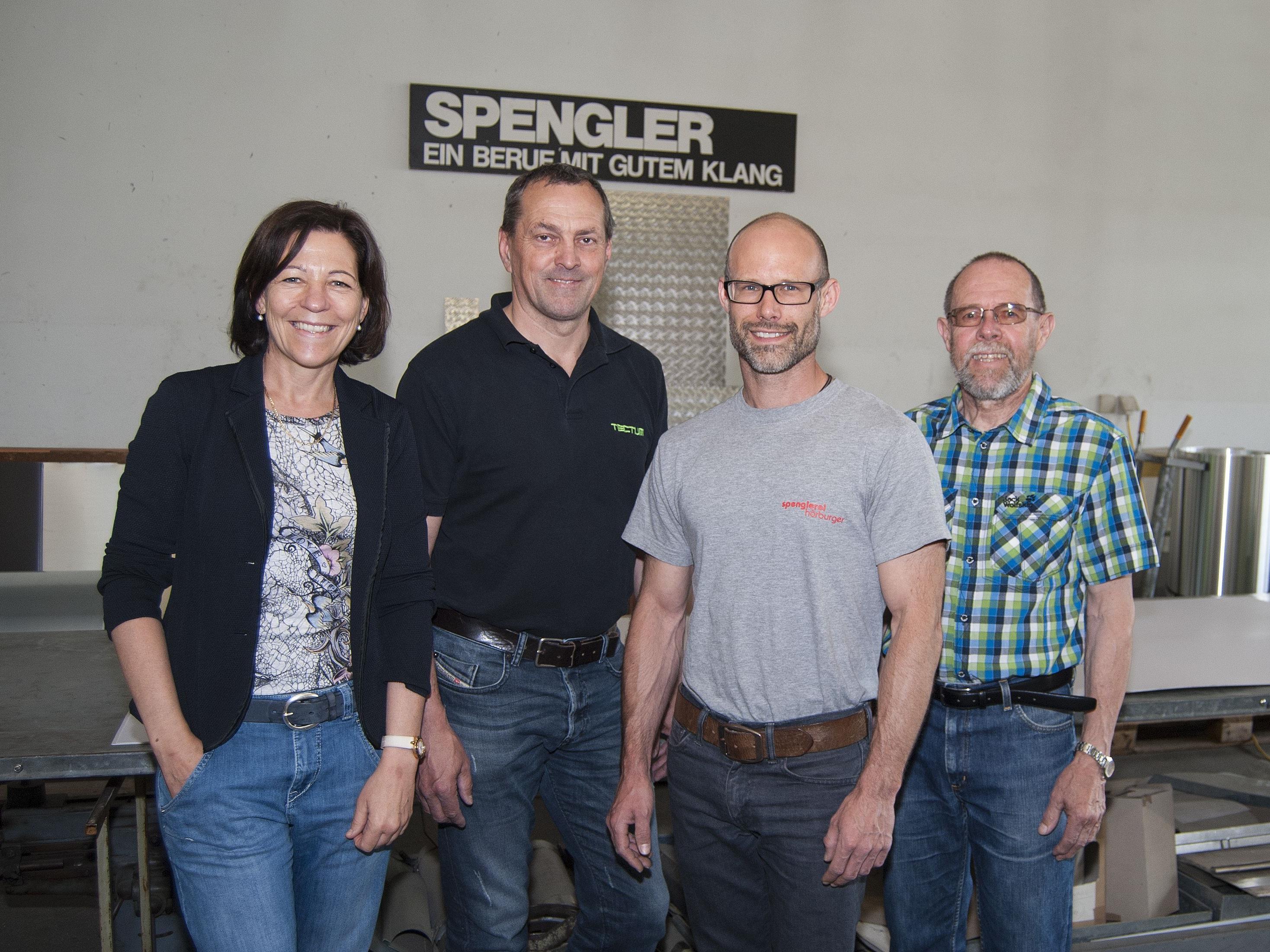 v. l. Anna und Emanuel Schinnerl, Markus Hörburger, Anton Amann
