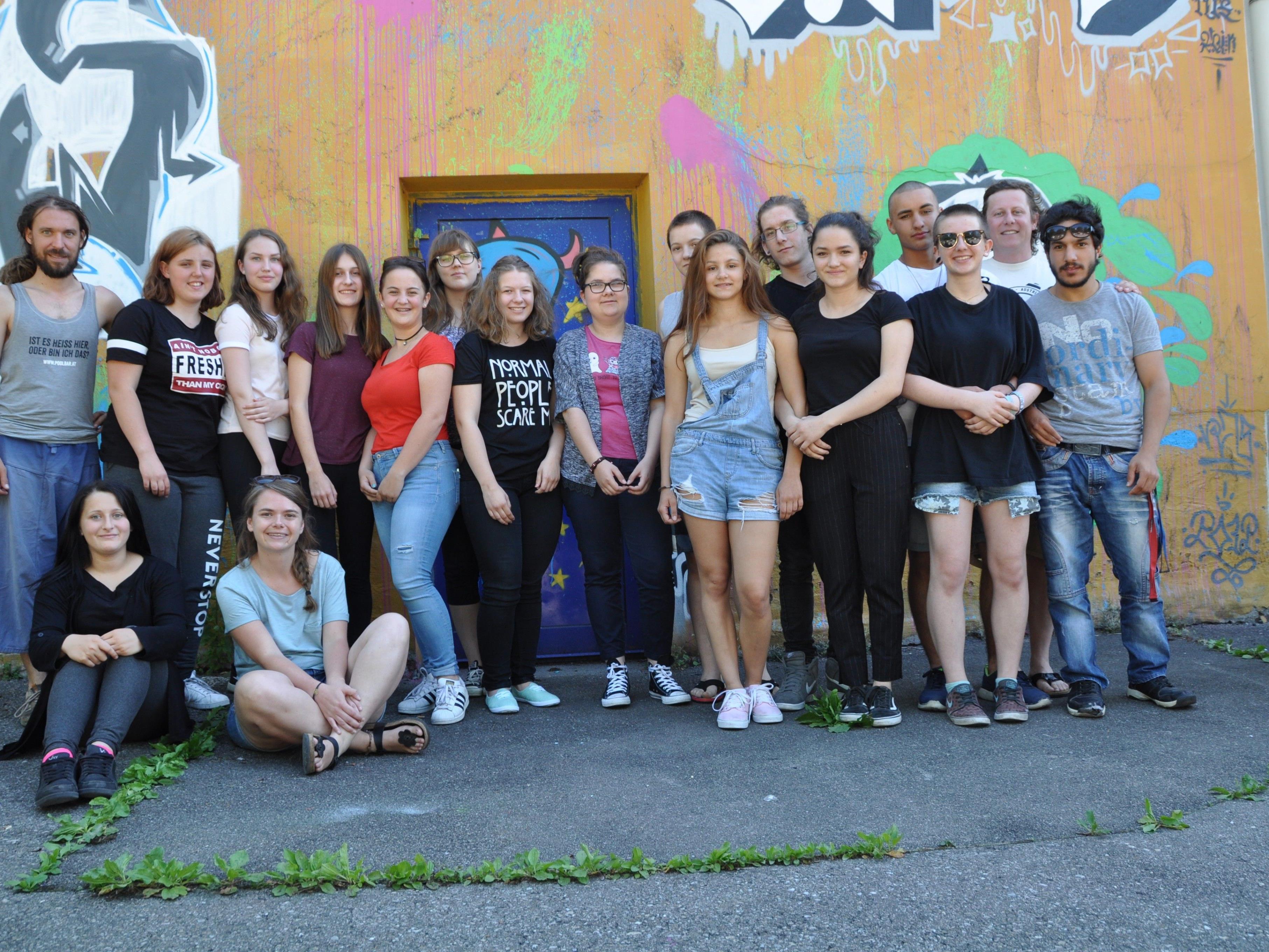 Die Projektgruppe aus Rankweil, Meiningen und Feldkirch mit der finnischen Delegation beim Vorbereitungsbesuch