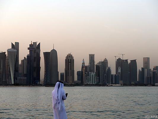 Blick auf die Skyline von Katars Kapitale Doha