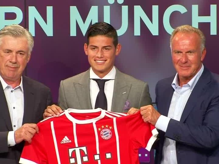 James Rodríguez bei Bayern München vorgestellt.