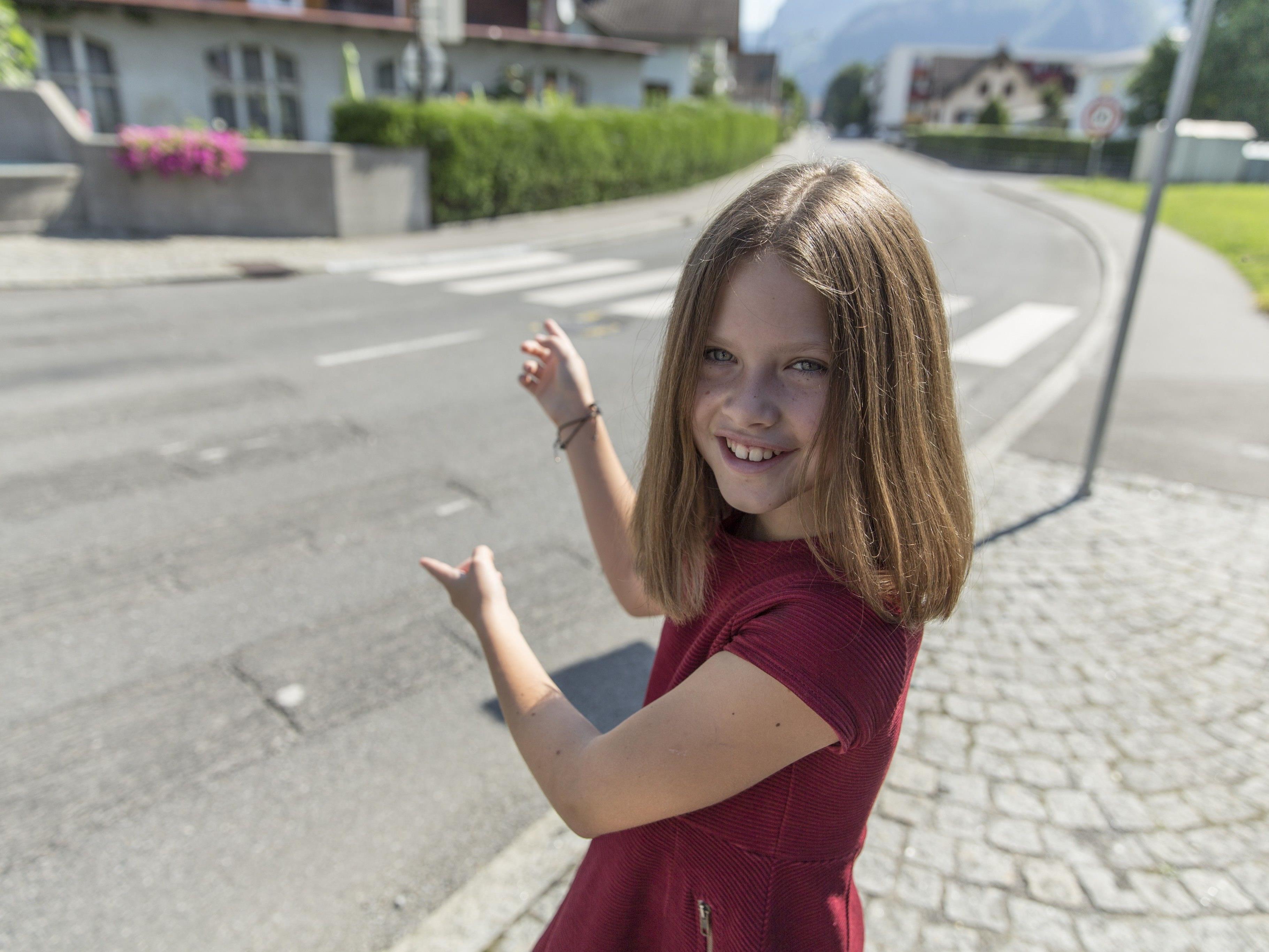 Dank Ida wurde der Zebrastreifen in der Rudolf-von-Ems-Straße um ein paar Meter versetzt.
