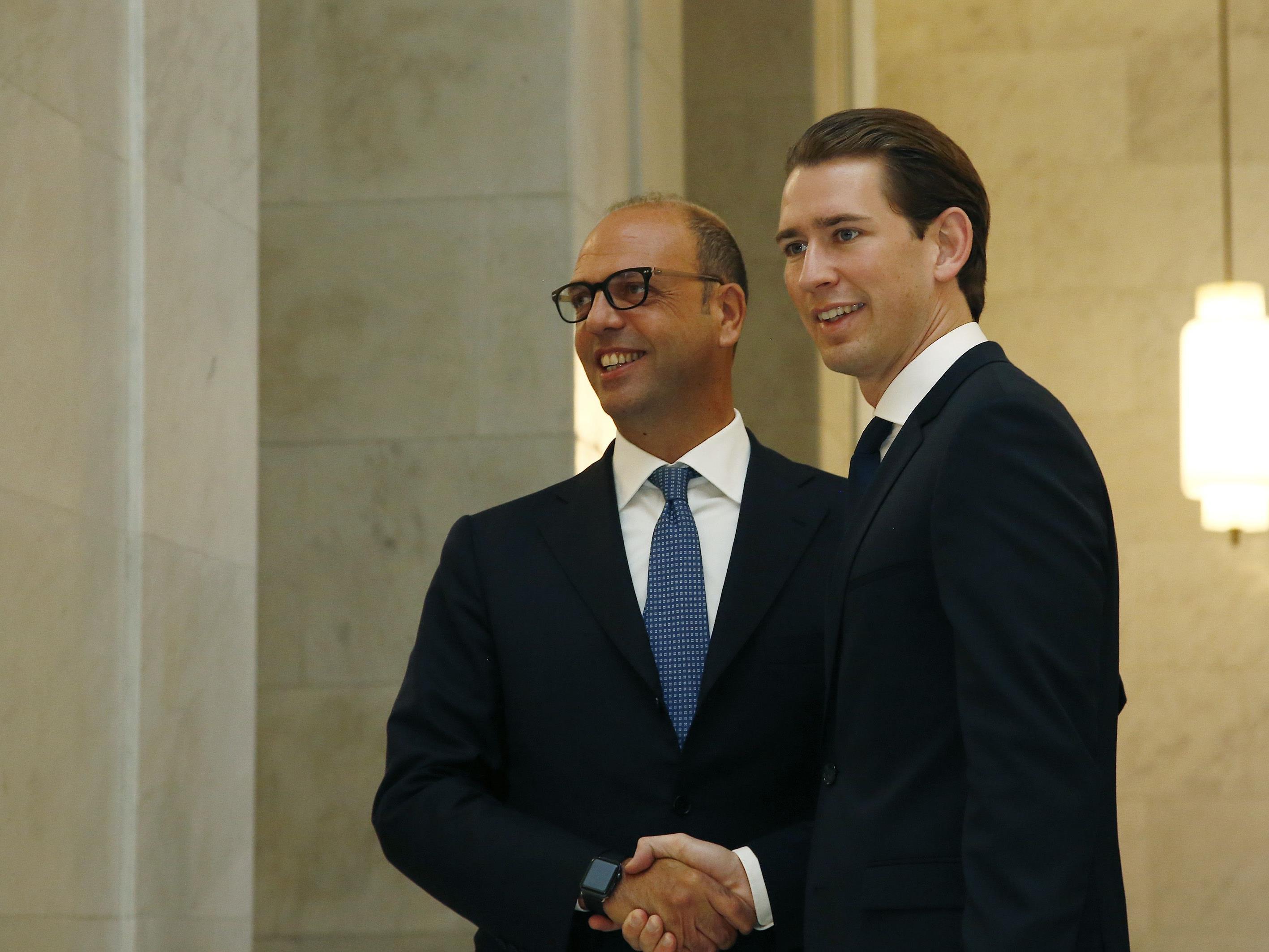 Außenminister Sebastian Kurz trifft den italienischen Außenminister Angelino Alfano KURZ NIMMT AN DER MIGRATIONSKONFERENZ IN ROM TEIL. KURZ/ALFANO