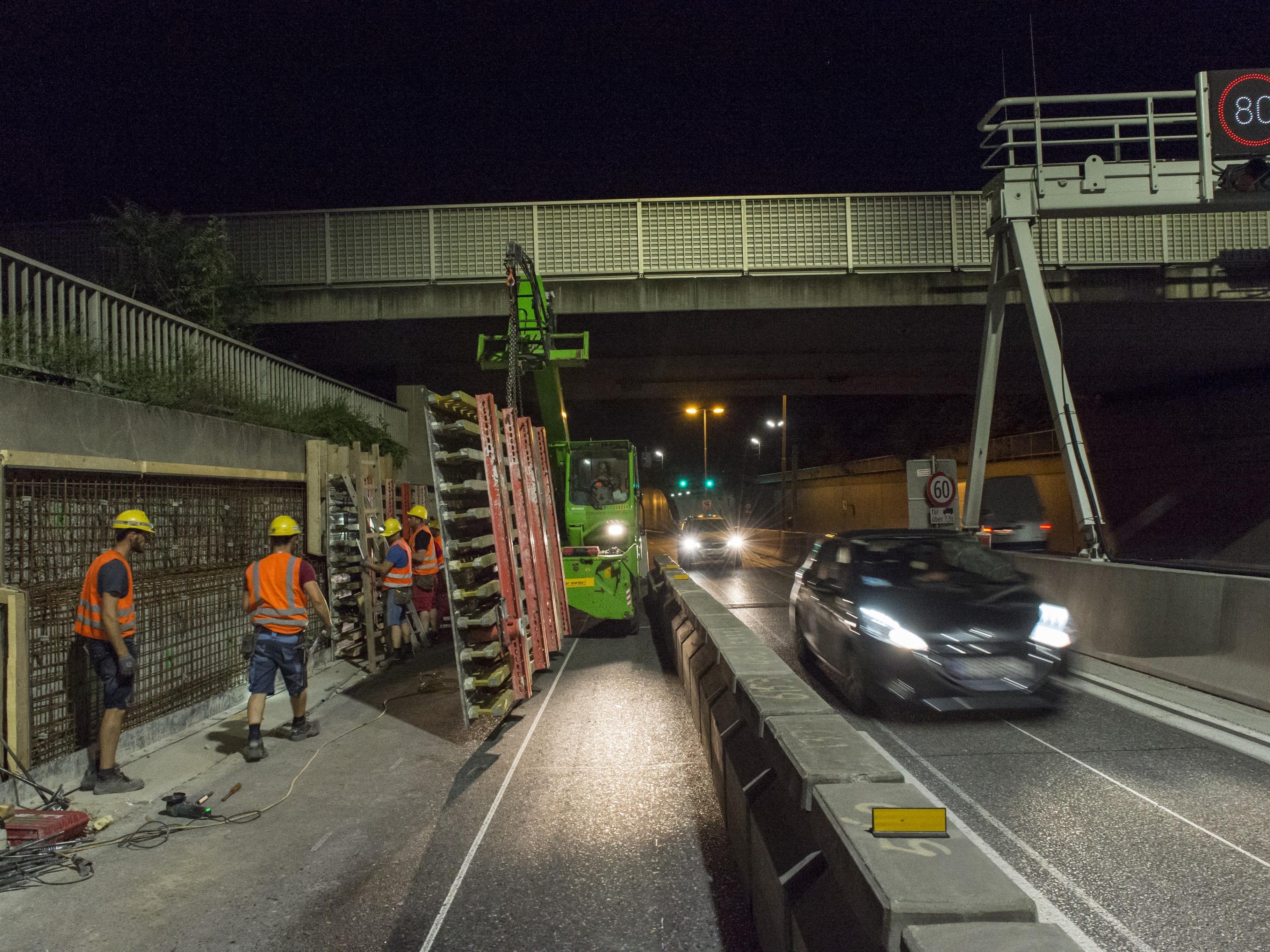 Aufgrund der Generalsanierung der Tunnel in Stadlau und Hirschstetten wird es ab 10. Juli Fahrspursperren geben