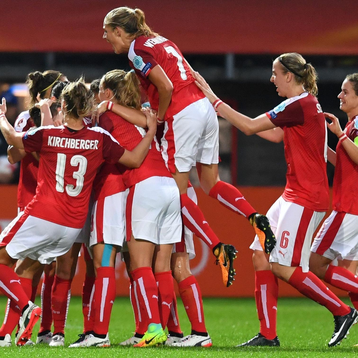 Österreichs Frauen-Nationalteam durfte auch im dritten Gruppenspiel jubeln.