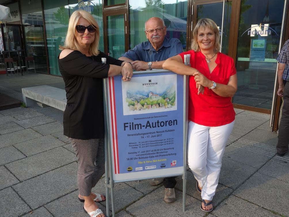 Angelika Frick, Hubert Nachbaur und Ruth Summer vertraten die Kluser Filmschaffenden in Tirol.