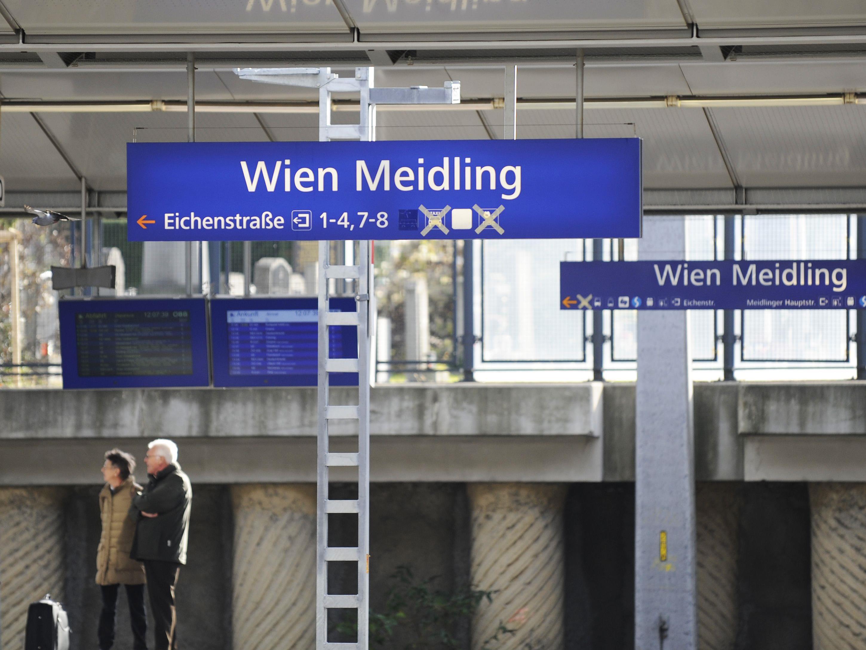 Der Zugsverkehr am Bahnhof Wien Meidling ist derzeit eingestellt