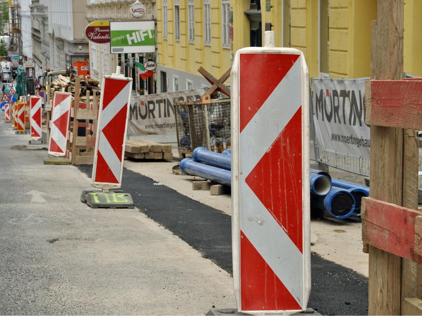 Im 18. Bezirk wird ab Montag gebaut.