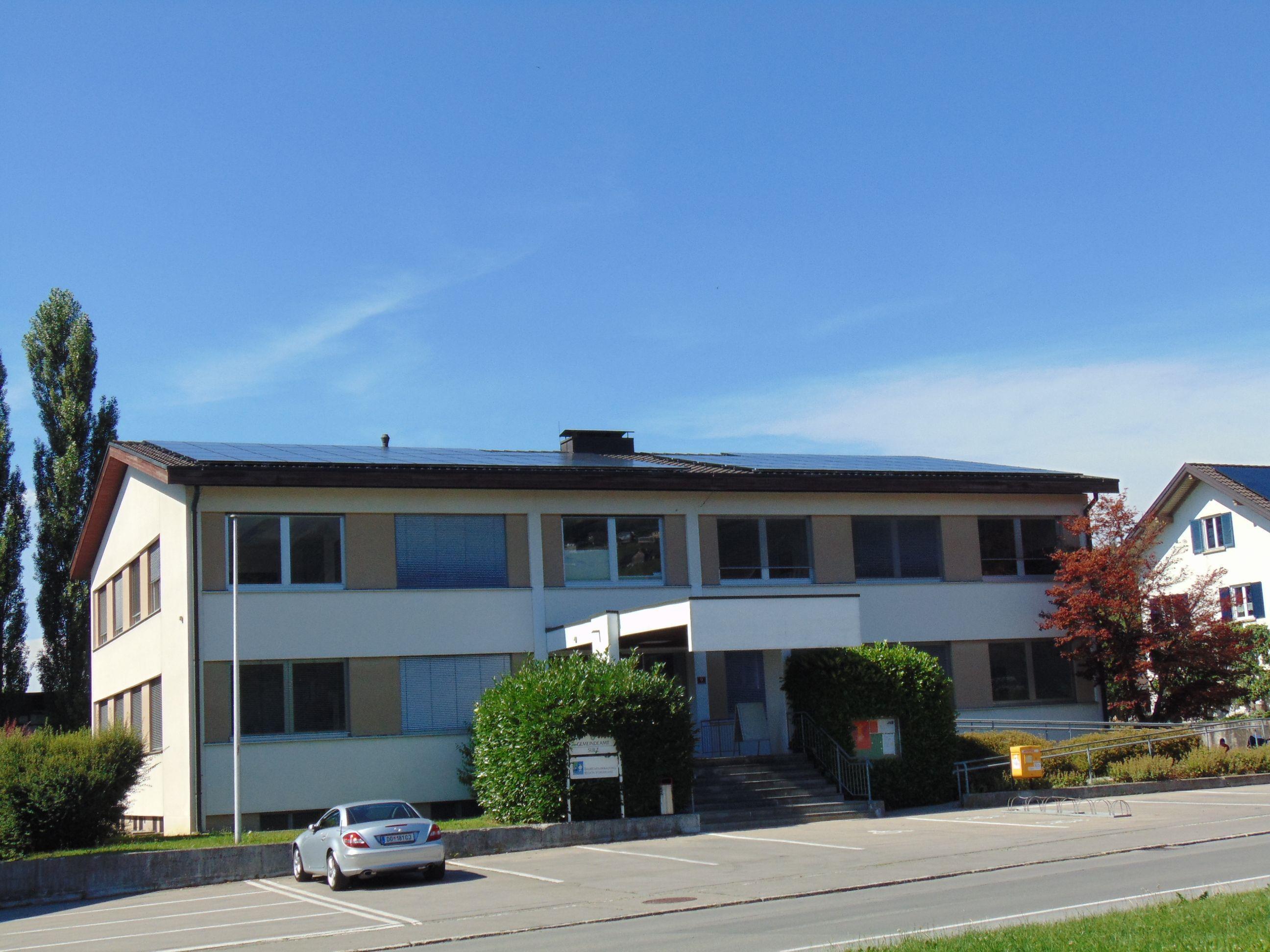 Das Gemeindeamt in Sulz erhielt eine eigene PV Anlage