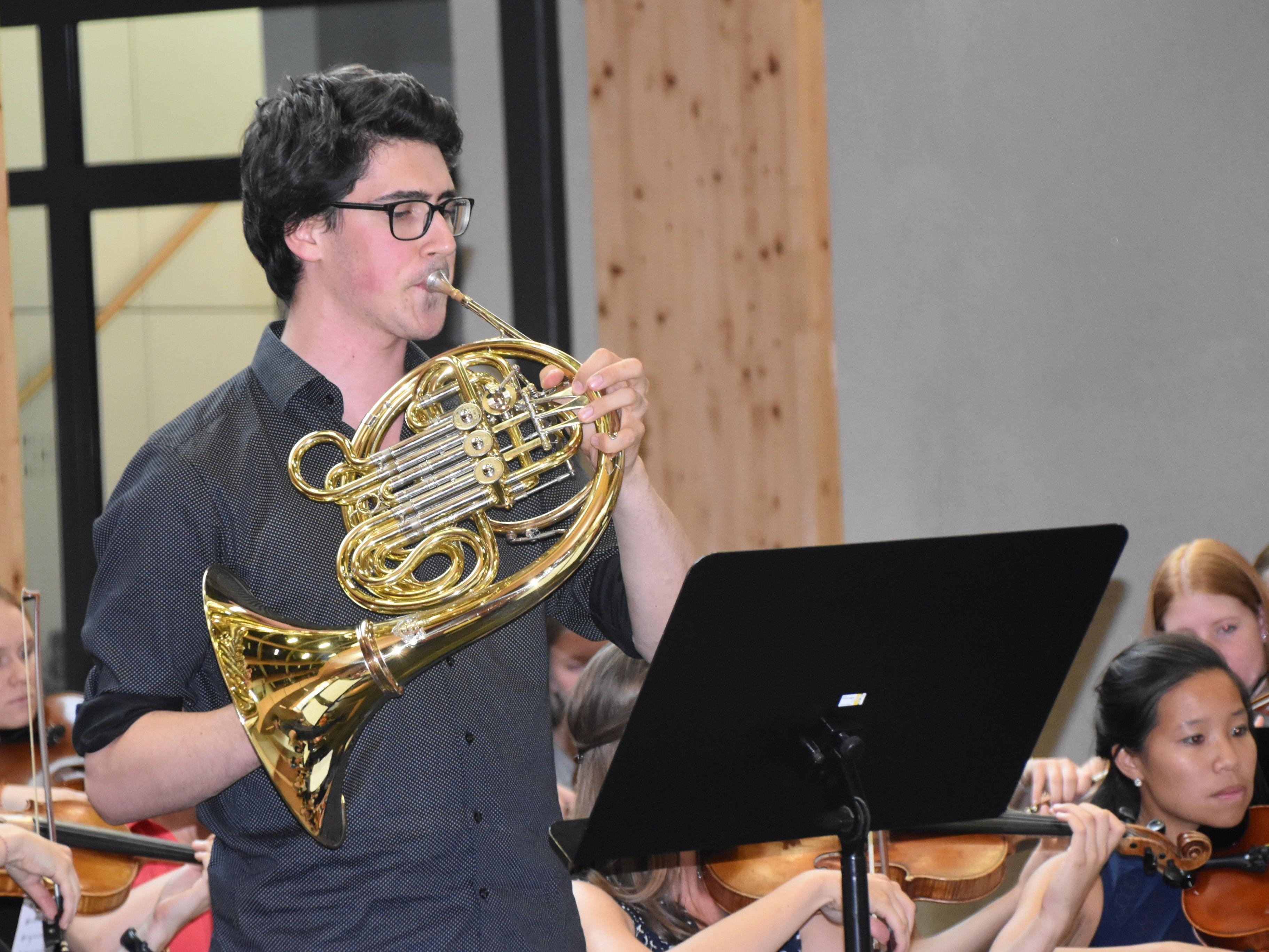 Solist Lukas Müller (Horn) aus Altach