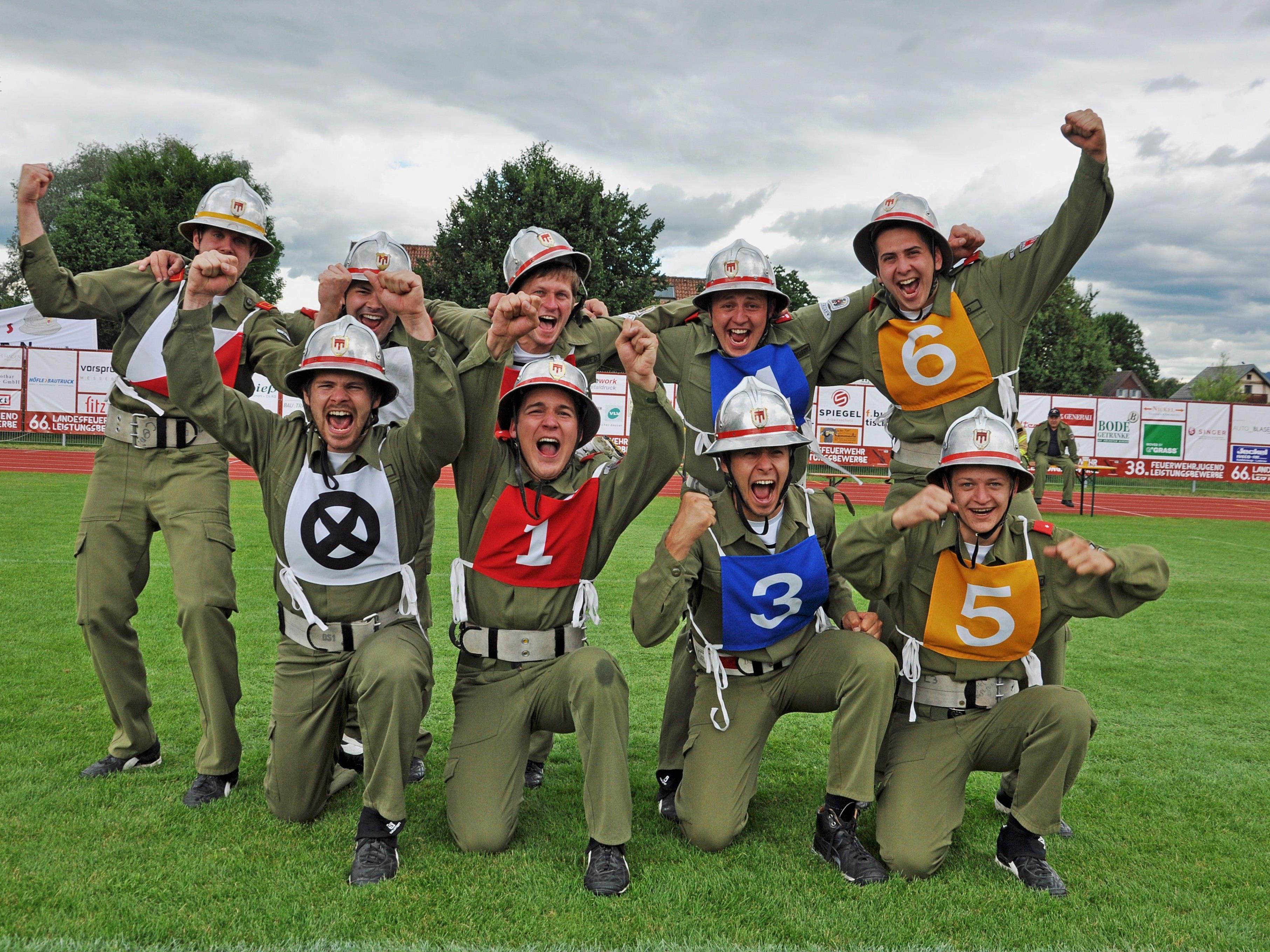 Die Feuerwehr Au jubelte über den elften goldenen Helm in ihrer Geschichte.