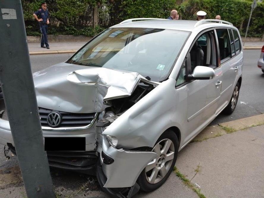 Der Unfallwagen von Wien-Währing