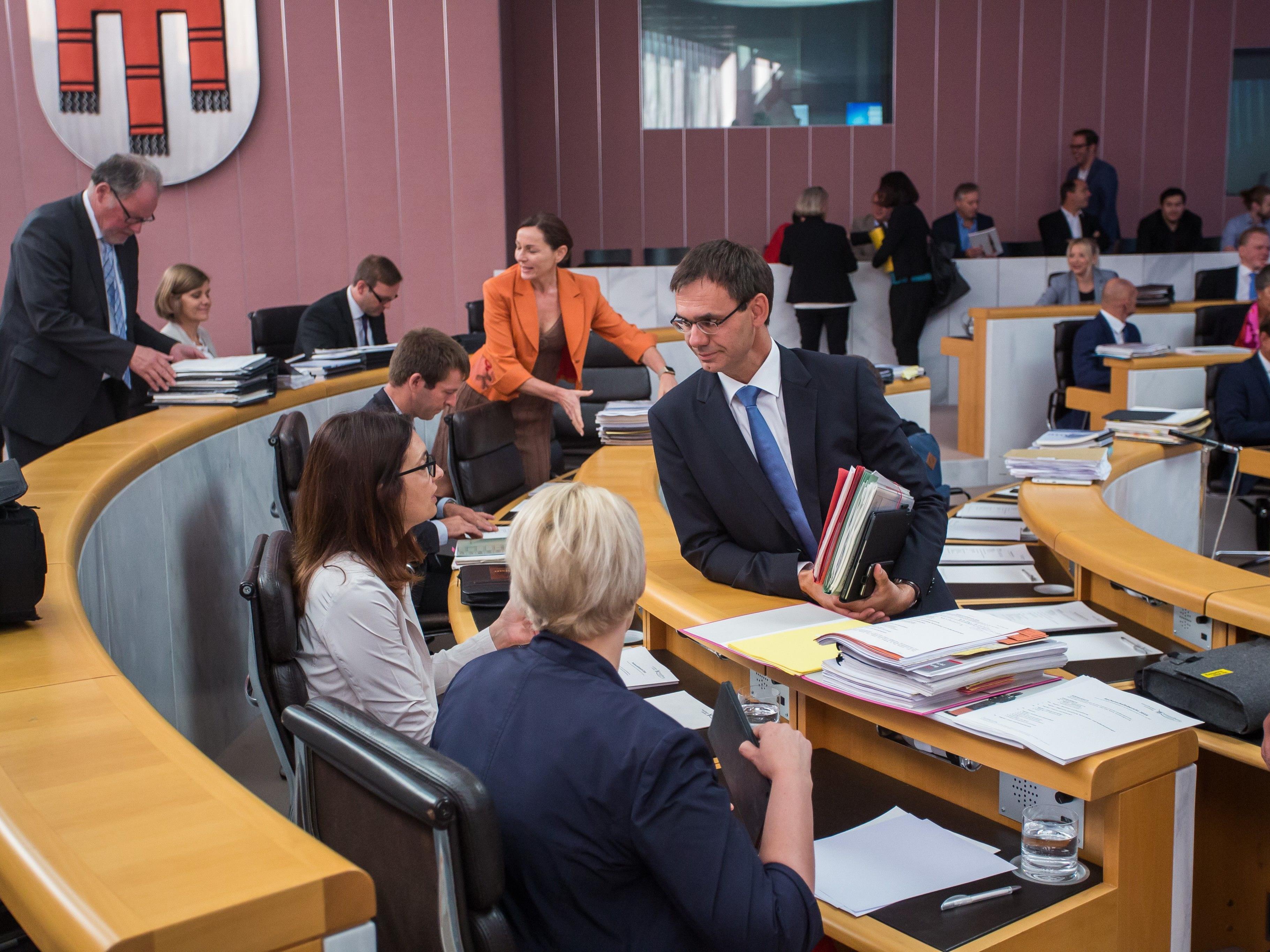 Vorarlberger Landtag - Grüne und ÖVP liegen im Clinch.