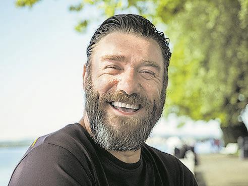 W&W traf den Ländle Schauspieler bei den Sunset-Steps in Bregenz.