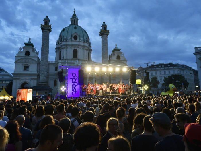 60.000 Besucher waren beim Wiener Popfest 2017.