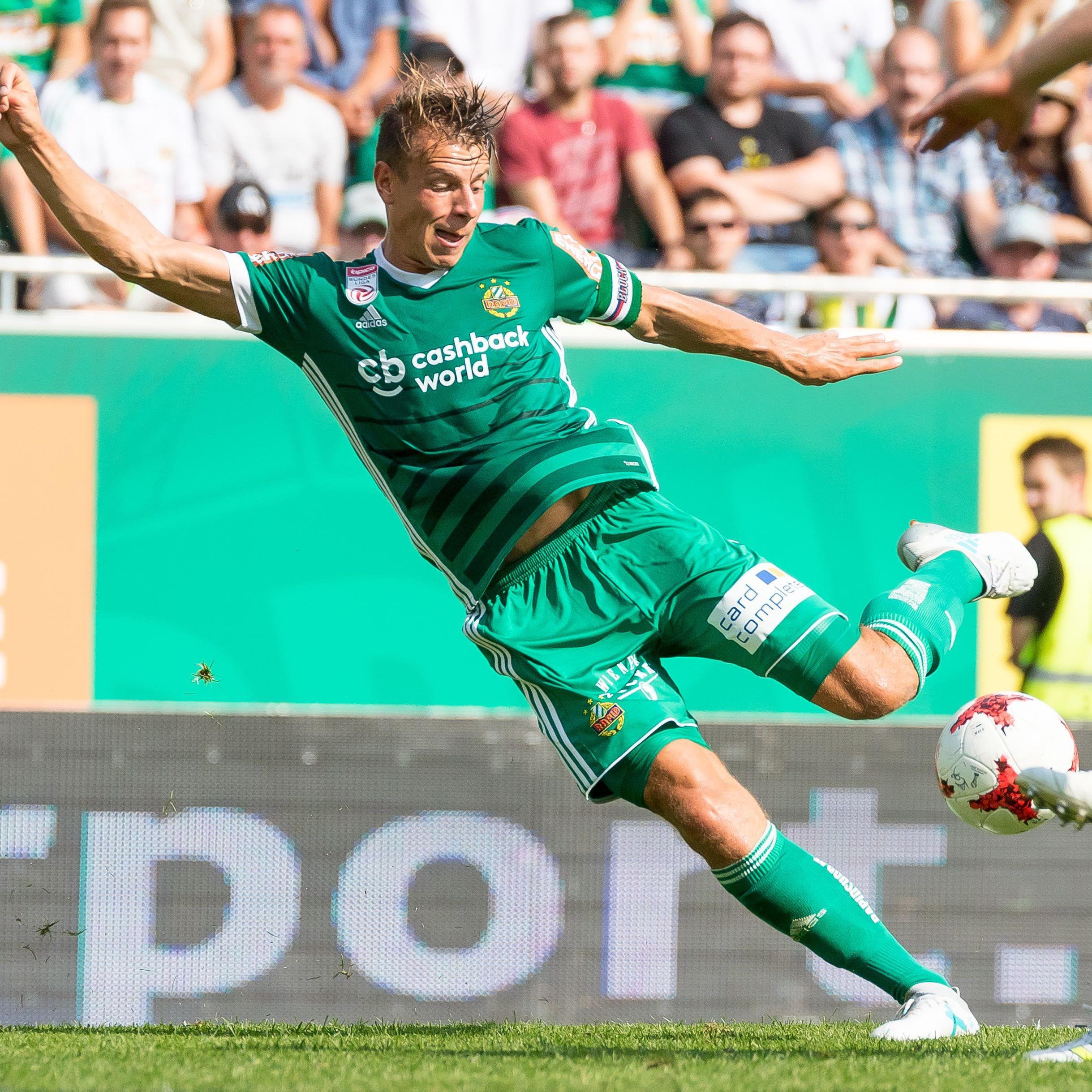 Stefan Schwab beim Bundesliga-Auftakt zwischen Rapid und Mattersburg