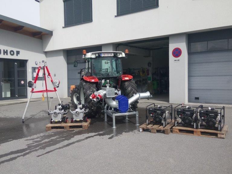 Die neuen Pumpen des Gemeindebauhofes von Koblach
