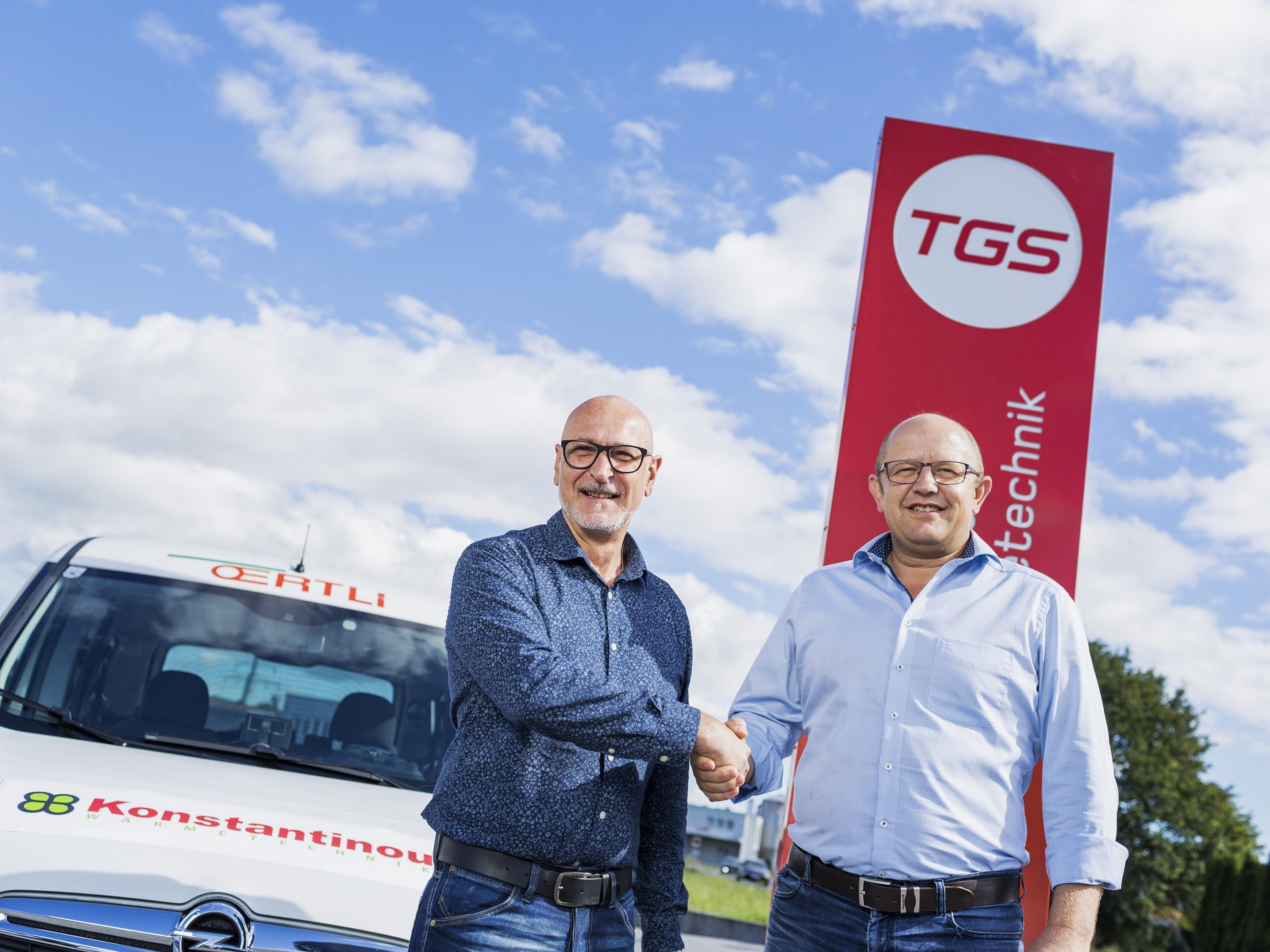 Geschäftsführer Peter Schelling (rechts) mit Ioannis Konstantinou, der künftig das Know-how für Örtli- und Hydrotherm-Anlagen in TGS einbringt.