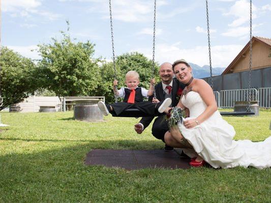 Hochzeit von Mirjam und Sven mit Sohn Mike.