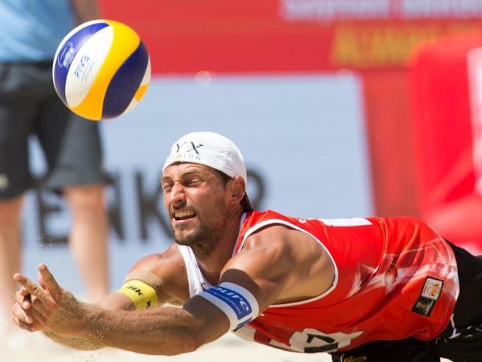 Thomas Kunert unterlag bei der Beach Volleyball-WM am Montag in Wien gegen den topgesetzten Brasilianer.