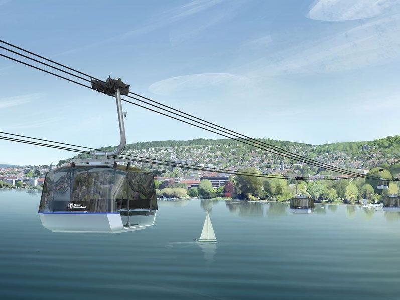 Ein Seilbahn soll die Ufer des Zürichsees verbinden.