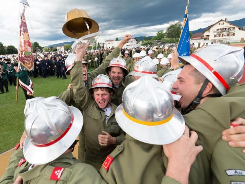 """Im Juli holte sich die Feuerwehr Au den """"Goldenen Helm""""."""