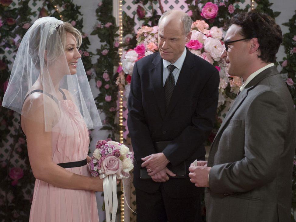 Die Hochzeit von Penny und Leonard.