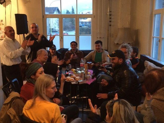 Das wöchentliche Deutschcafé entwickelte sich zu einem beliebten Treffpunkt.