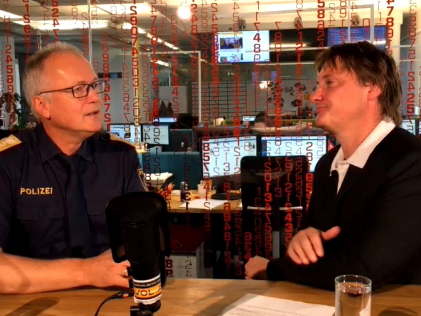 Hans-Peter Ludescher stellte sich den Fragen von VOL.AT-Chefredakteur Marc Springer