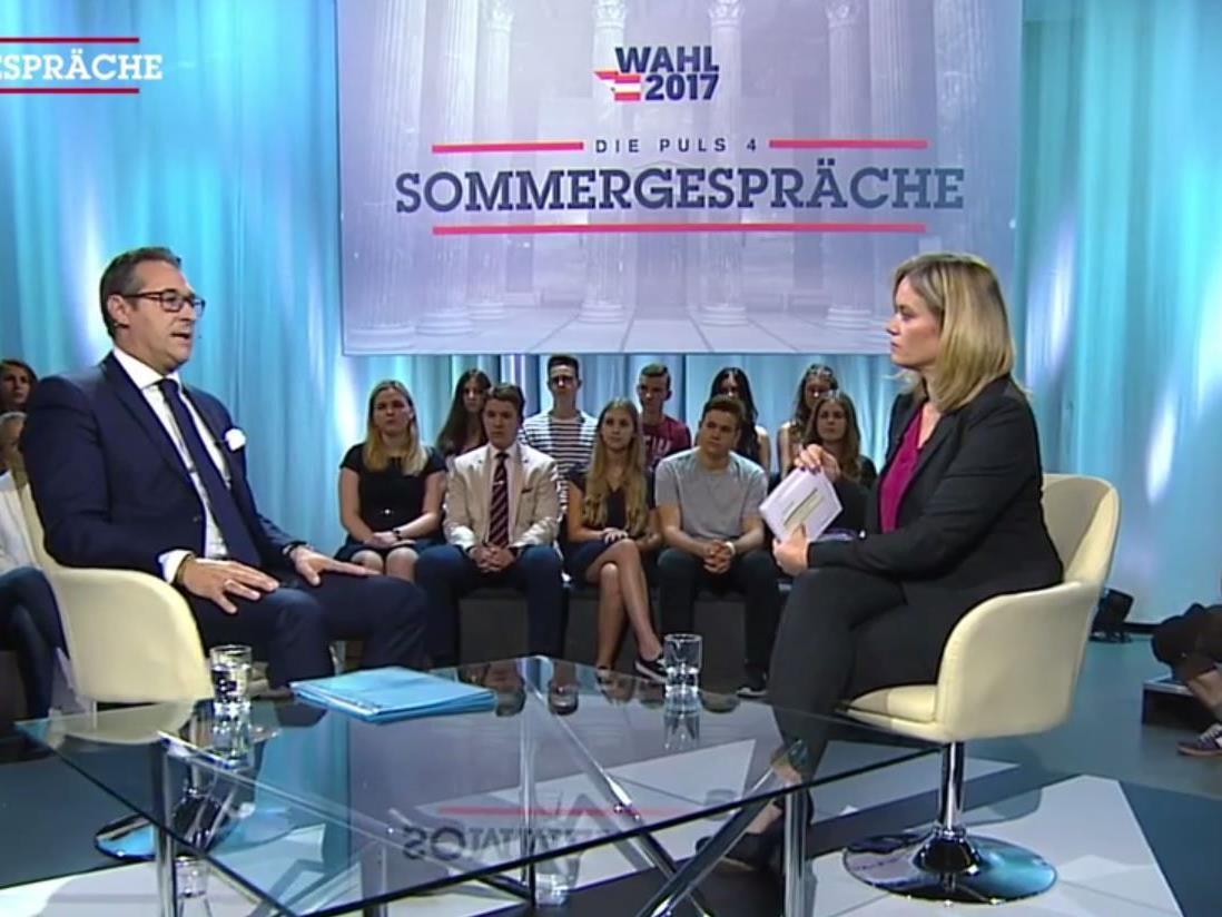 Heinz-Christian Strache im Sommergespräch mit Corinna Milborn.
