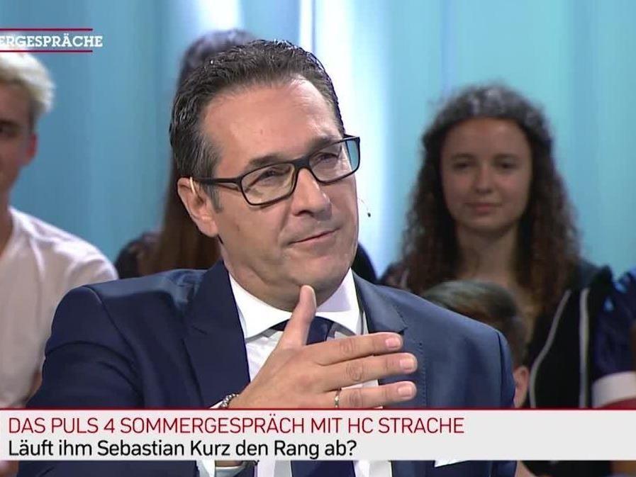 HC Strache im Puls 4-Sommergespräch.