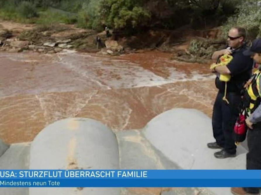 Die 14-köpfige Familie wurde von der Sturzflut überrascht.