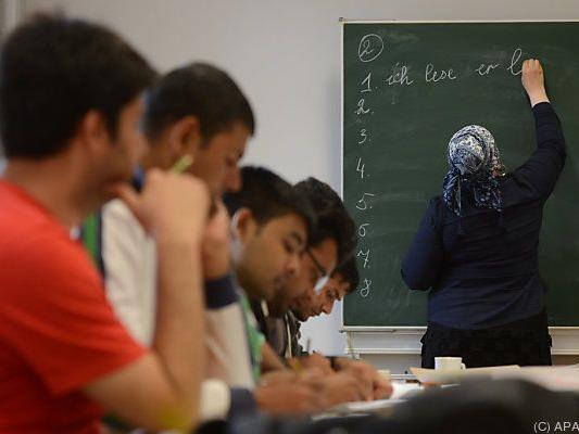 Viele Betroffene besuchen Deutschkurse