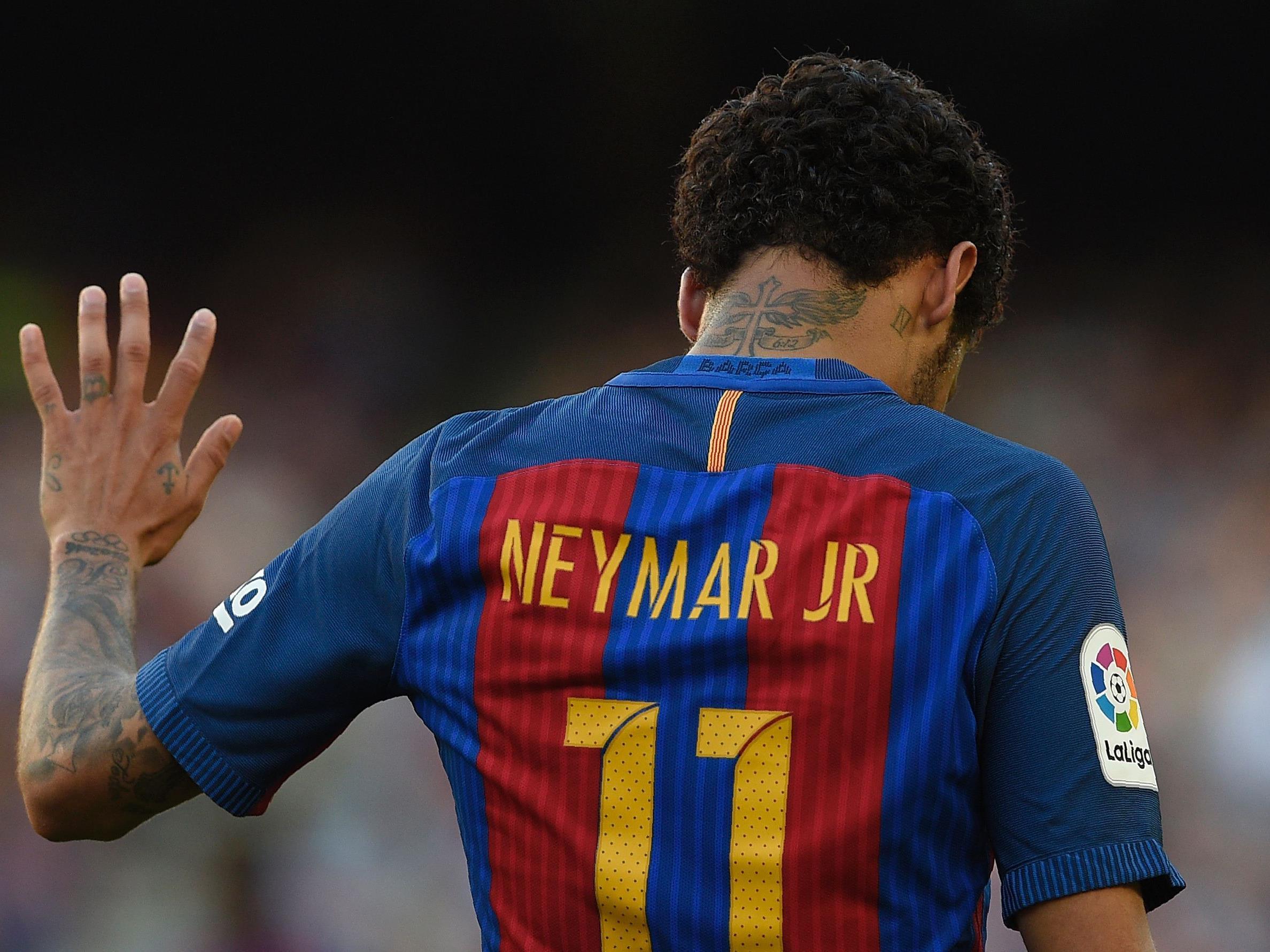 Neymar verabschiedet sich von Barca.