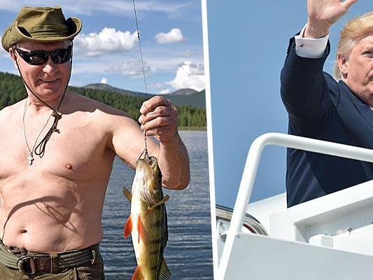 Putin und Trump im Urlaub - Dder eine drei Tage ohne Hemd, der andere siebzehn Tage am Golfplatz.
