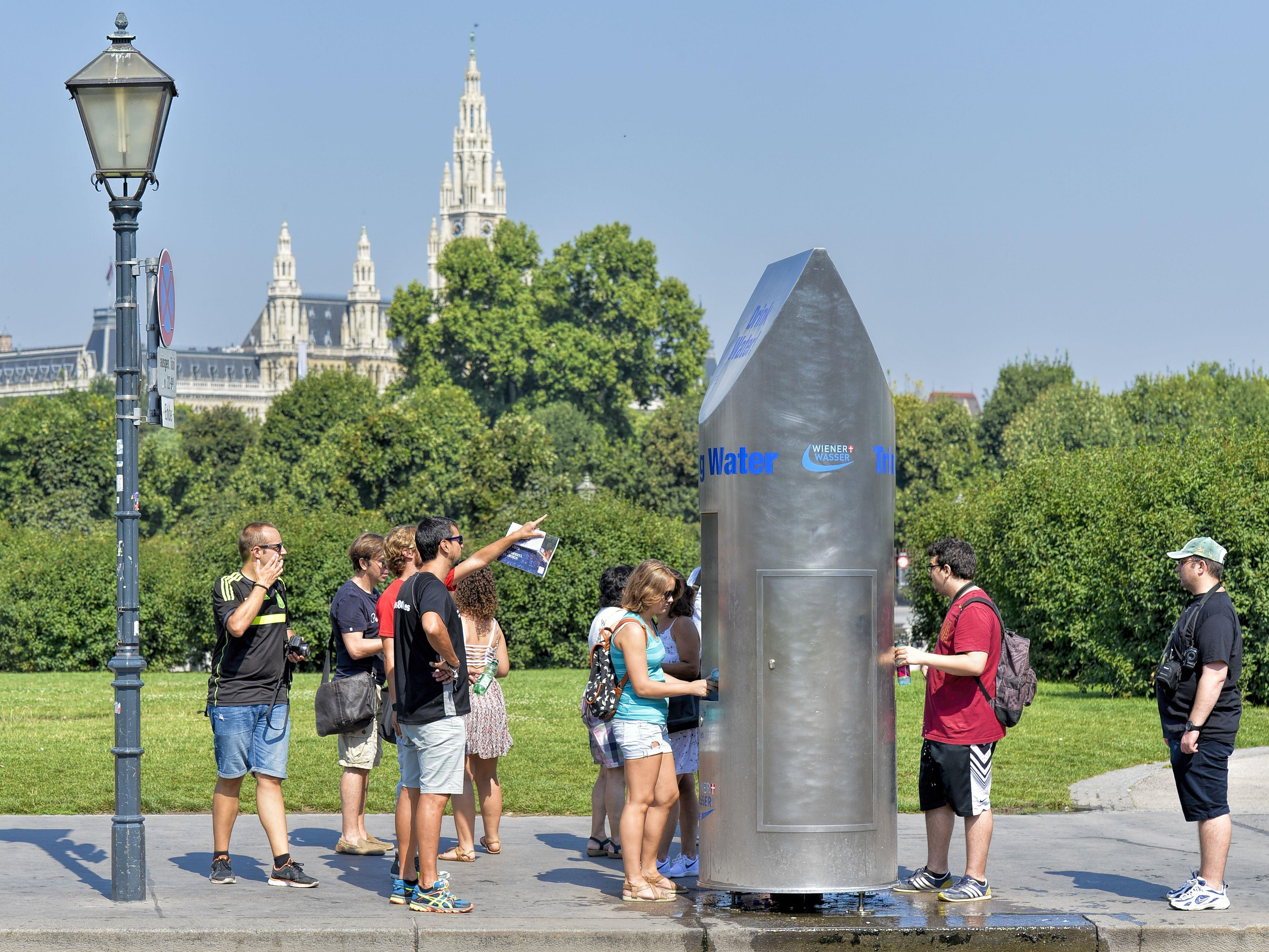 Der aktuelle Wasserverbrauch in Wien bei der Hitzewelle