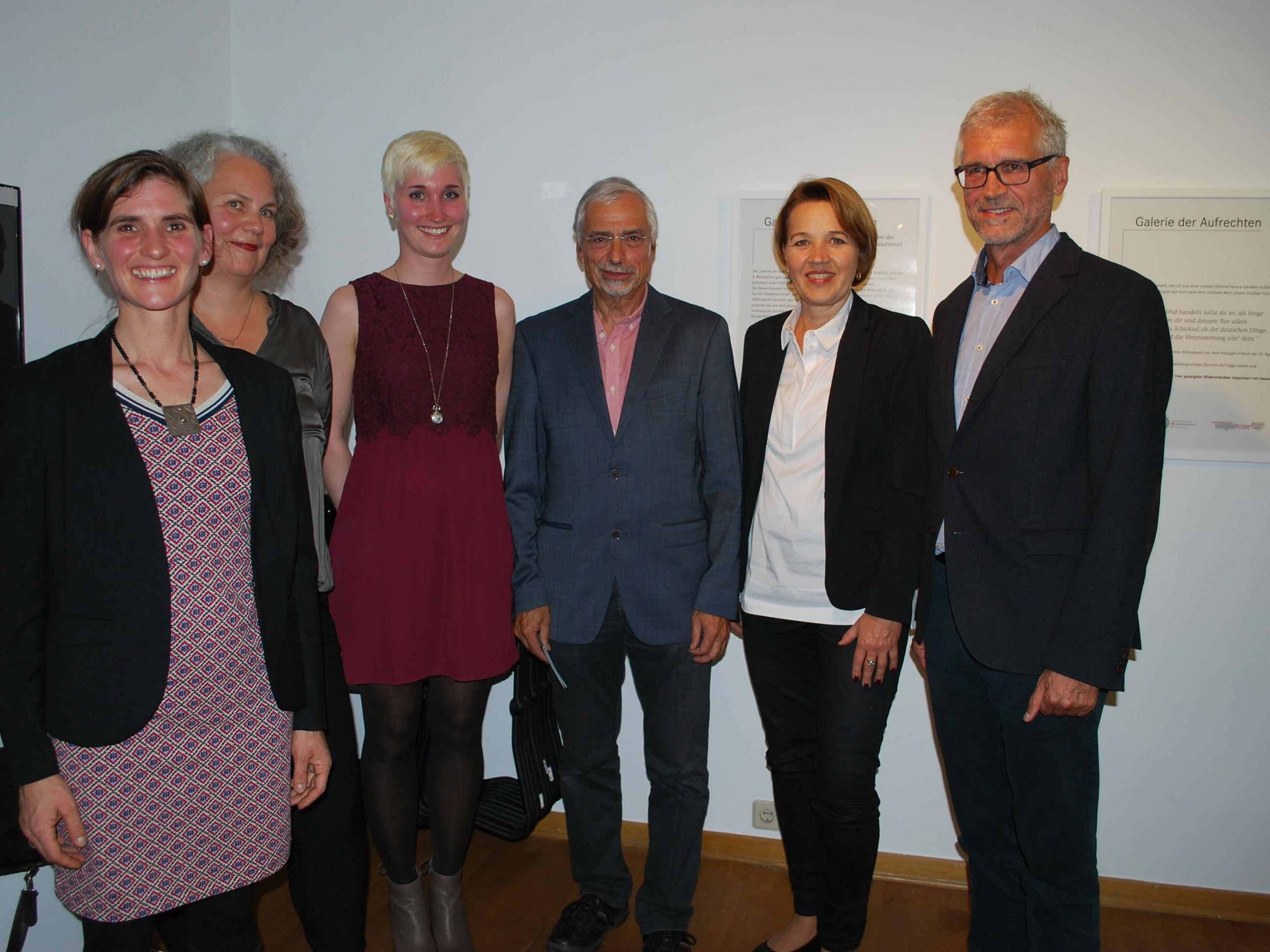 Antje Wagner, Petra Zudrell, Atessa Sonntag, Uwe Hertrampf, Andrea Kaufmann, Harald Walser (vl)