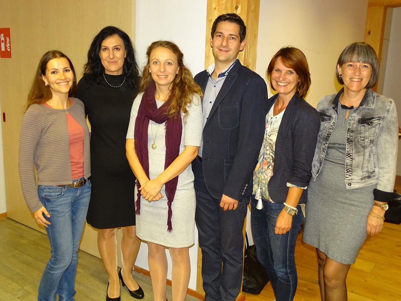 Andrea Ruckendorfer, Ulrika Eberle und Claudia Matt, Gunther Fenkart, Andrea Meyer und Bettina Egle (v.l.)