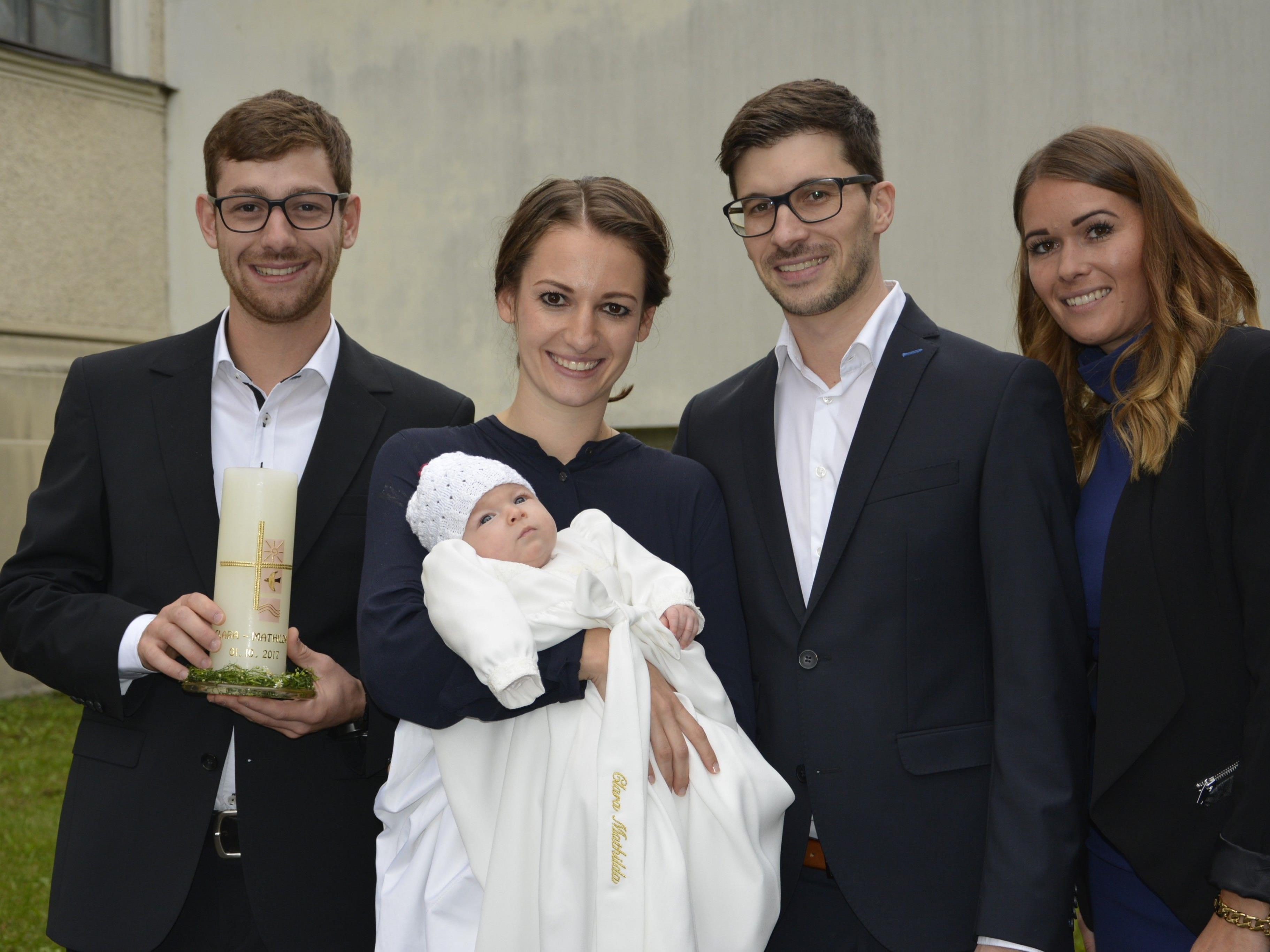 Taufe von Clara Mathilda Zwischenbrugger am 1. Oktober.