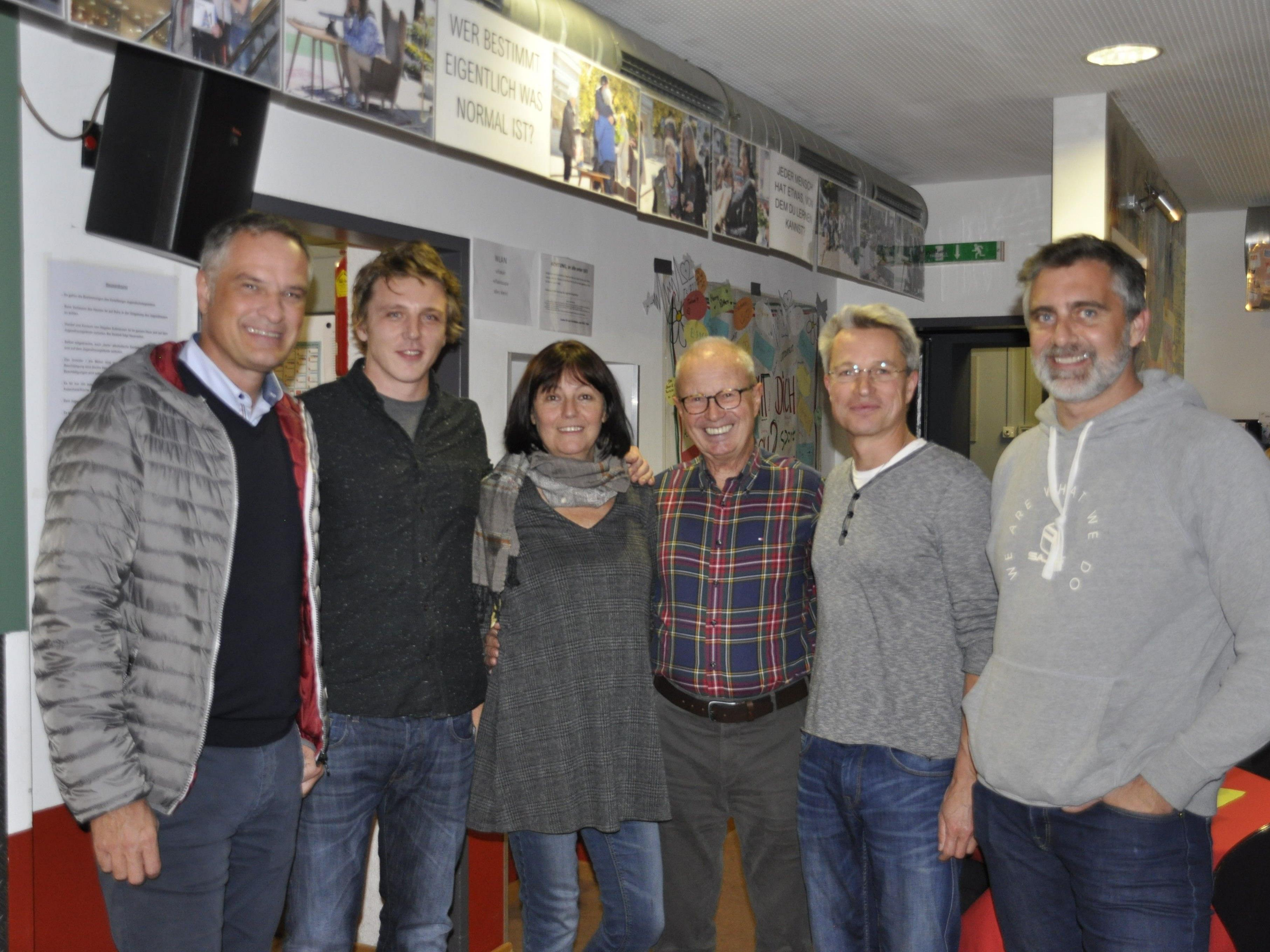 v.r.: Mario Leiter, Roman Bitschnau, Ruthilde Thaler-Feuerstein, Anton Geiger, Dietmar Böhm, Michael Lienher
