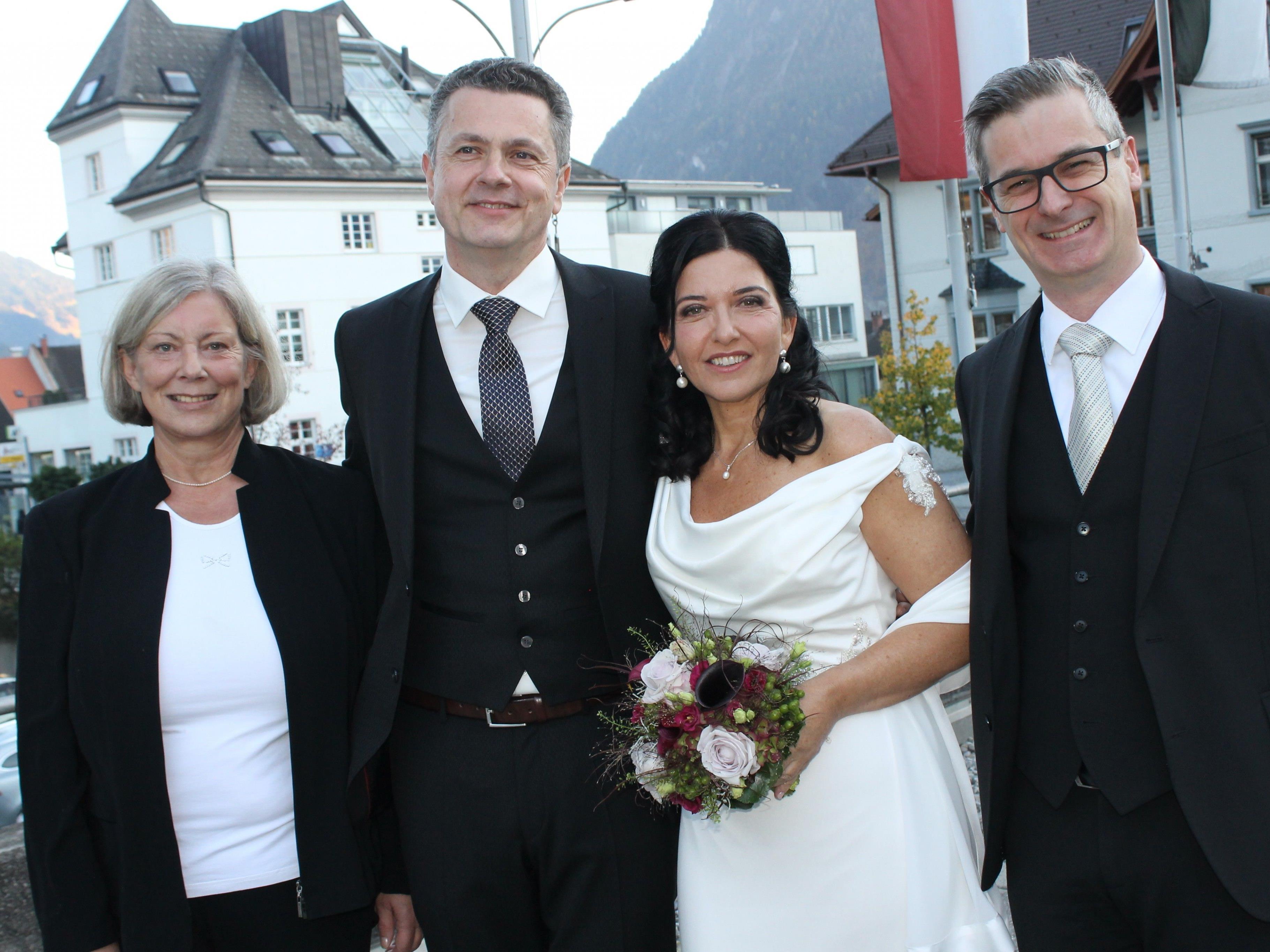 Manuela Auer und Erich Schloffer haben geheiratet
