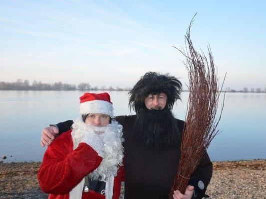 Nikolaus und sein Begleiter